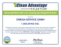 Omega CO2 Zertifikat