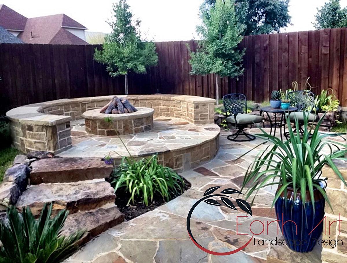Earth Art | Landscape Design Rockwall Texas | Firepit