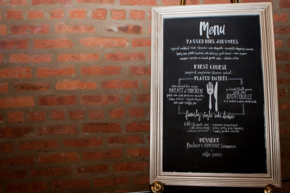 Mas+Millie Custom Chalkboard Menu