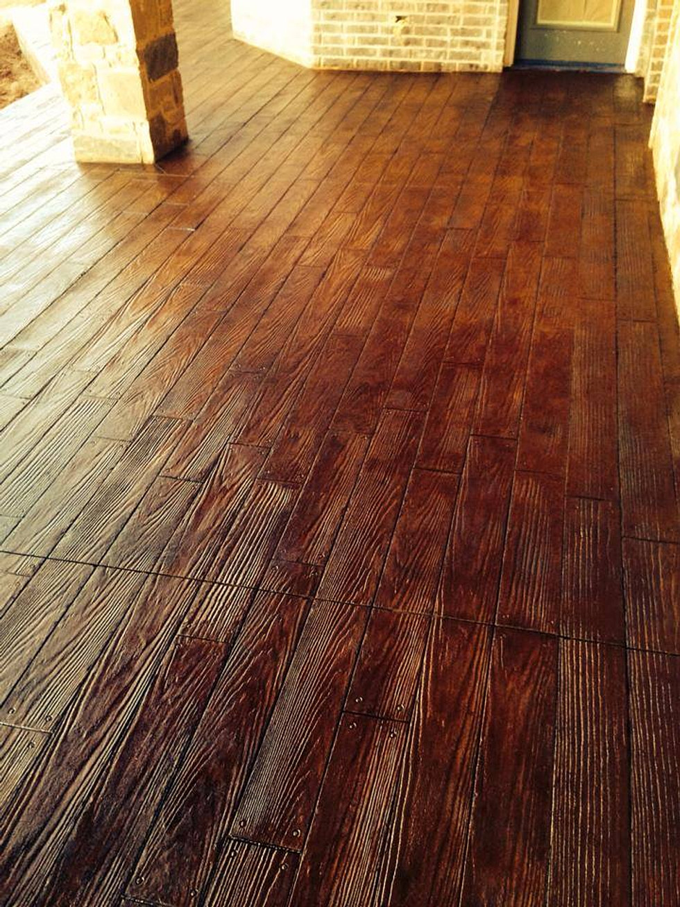 Stamped Wood Flooring : Owens concrete staining oklahoma city
