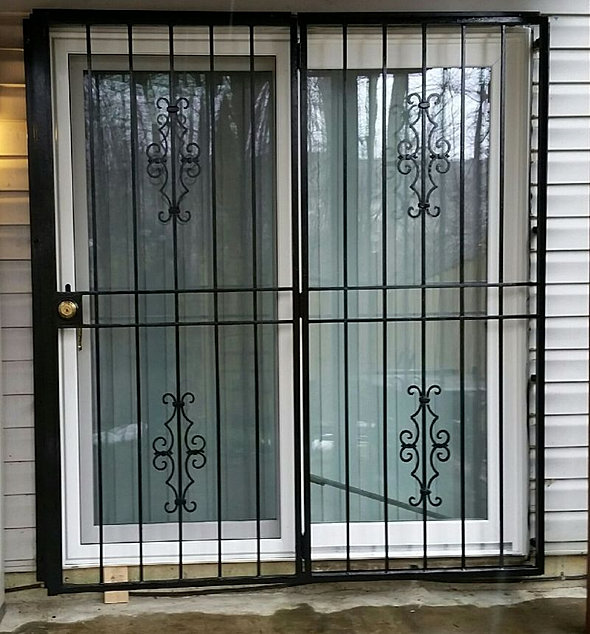Patio Security Gate With Victorian Panels