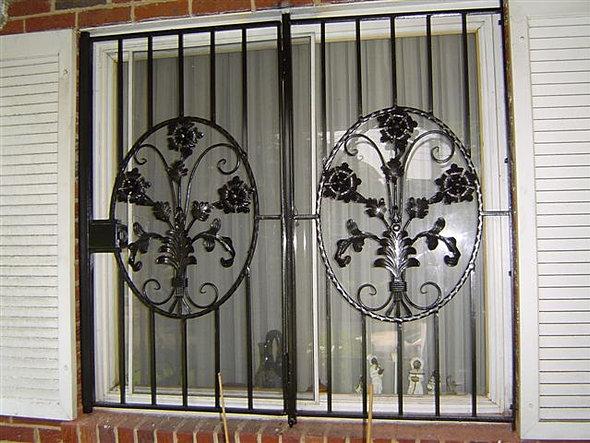 City ornamental iron window guards