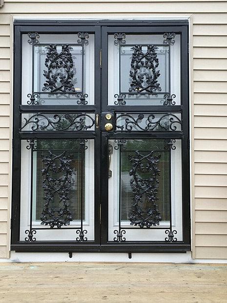 City ornamental iron for Fancy storm doors