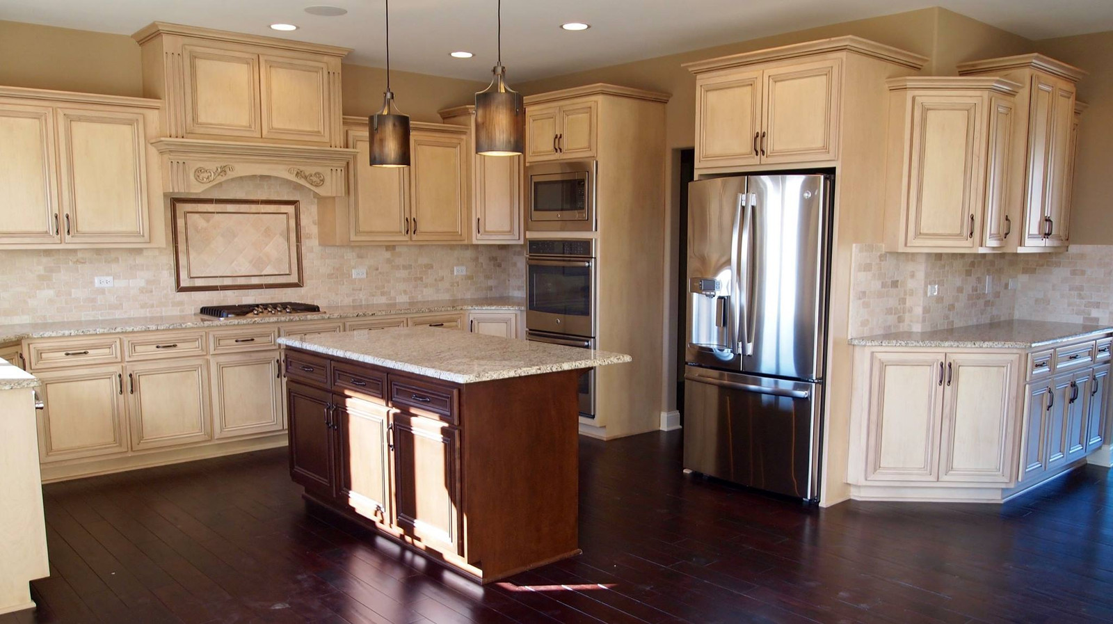 Kitchens With Giallo Ornamental Granite Homer Glen Granite Countertops Insignia Stone Kitchen Projects
