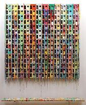 Russell West_180 Apartments_paint on wire on board_165 x 135cm_Woolff Gallery
