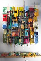 Russell West_Little Boxes XXXV_Oil on wire on board_W47cm x H70cm x12cm (Mount 55cm x 77cm)_Woolff Gallery