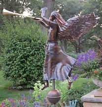 Copper Angel Weather Vane
