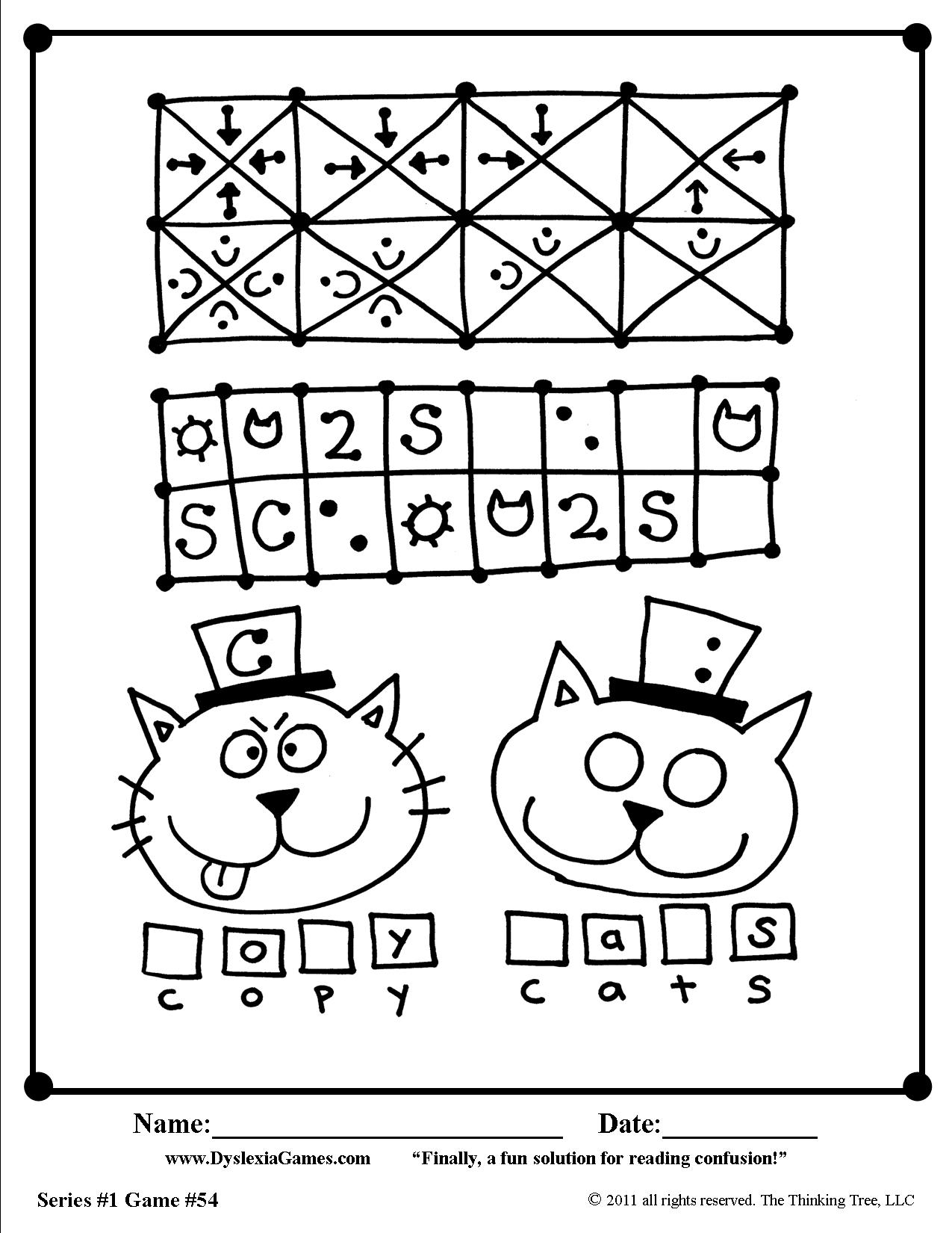 5 FREE Dyslexia Games Worksheets for Letter Reversals d b p q – Dyslexia Worksheets