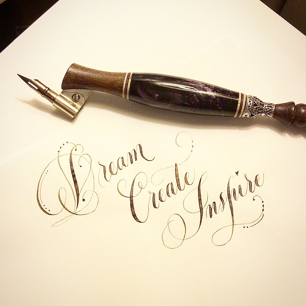 Stella hism pointed pen calligraphy