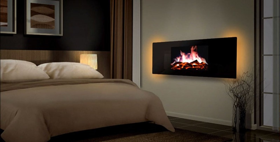 Flueless Wall Mounted Gas Fires With Remote Control Gas