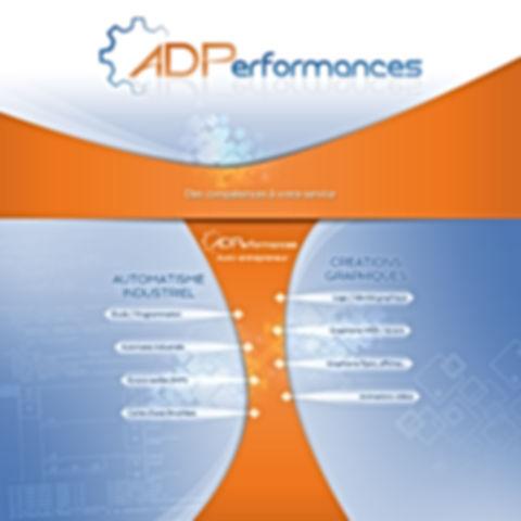 Page d'accueil 2016 du site web www.adperformances.fr
