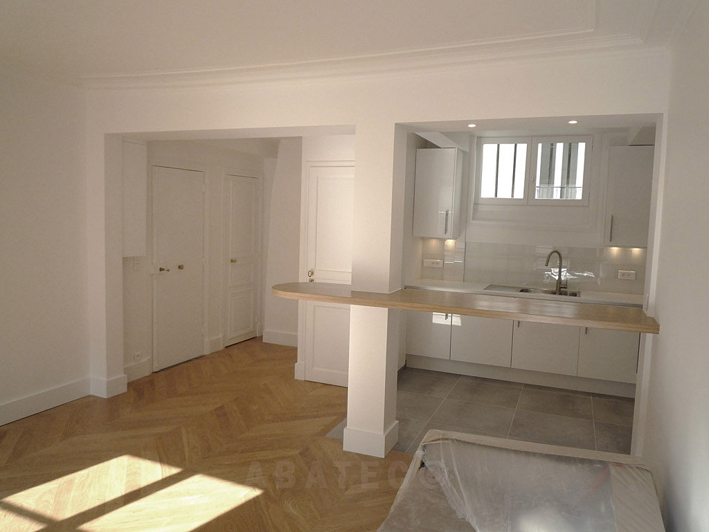 Prix des travaux co t moyen au m d 39 une r novation appartement paris - Prix renovation appartement ...