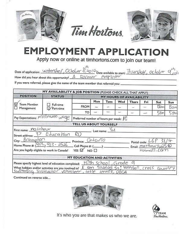 best resume for tim hortons job sample contemporary simple