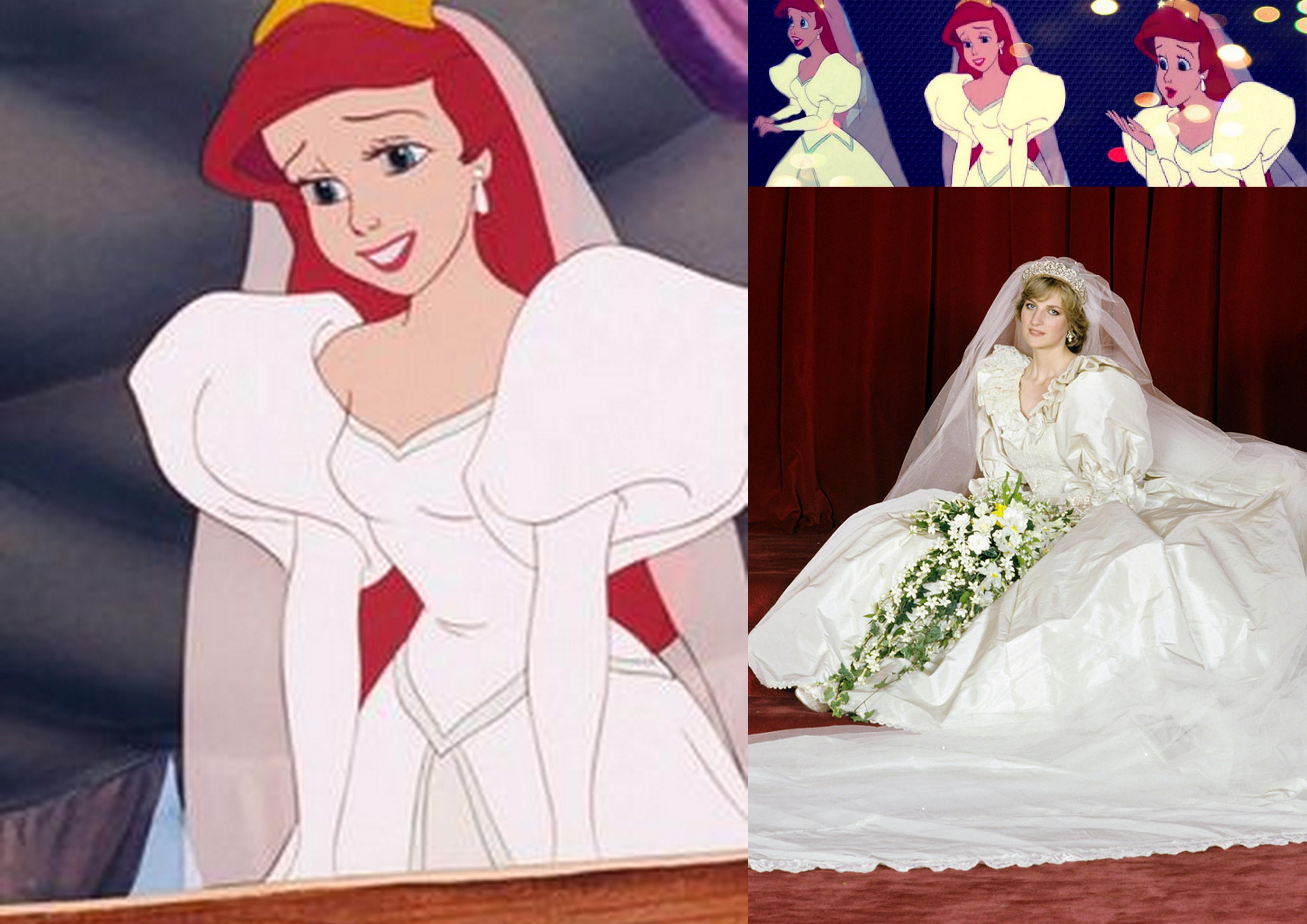Disney vestiti da cerimonia nuziale della principessa  Illustrazion