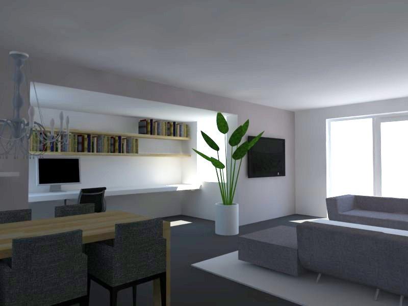 Berns interieur architectuur 3d impressie woonkamer indeling for 3d inrichten