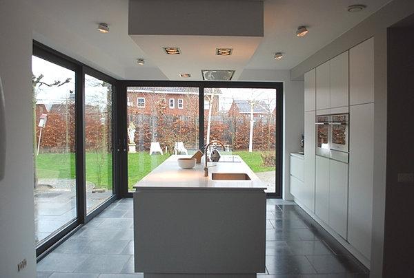 Berns interieur architectuur prj ontwerp verbouw woonkeuken for Interieur architectuur