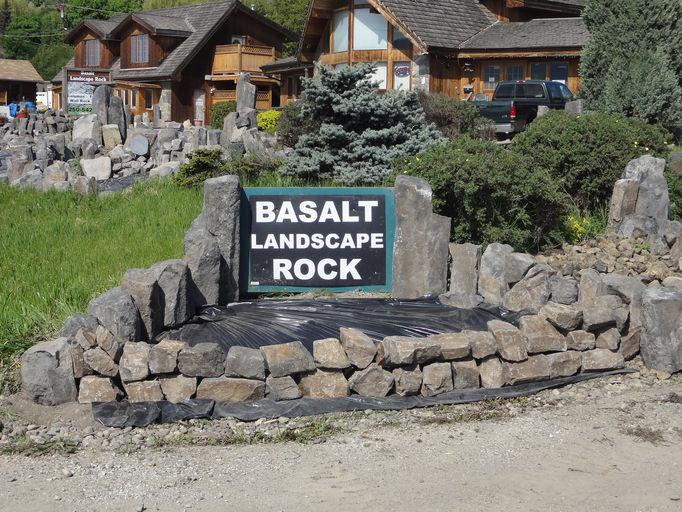 Basalt Rock Gardening : Lady king basalt vernon british columbia canada local