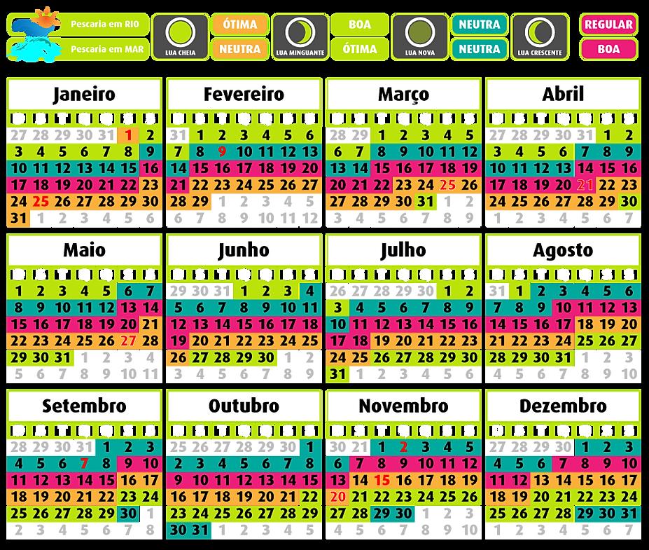 Calendario De Pesca Abril 2016 | Calendar Template 2016