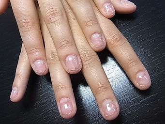 She Would Like To Have Natural Looking Nails So I Used Free Edge Gel For The Tips Clear Also Available Then Painted Strawberry French Over