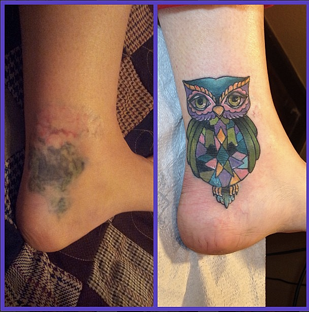 Tattoos By Cara Owl Cover Up