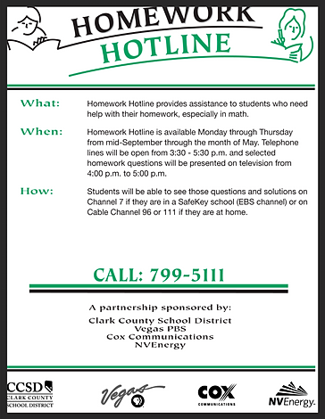 Free homework hotline
