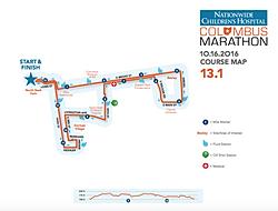 Nationwide Children39s Hospital Columbus Marathon  Course Map