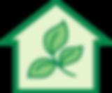清洁公司绿色房子的标志