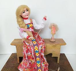 Герова Ксения 14 лет. Пряха.Кукла Высота