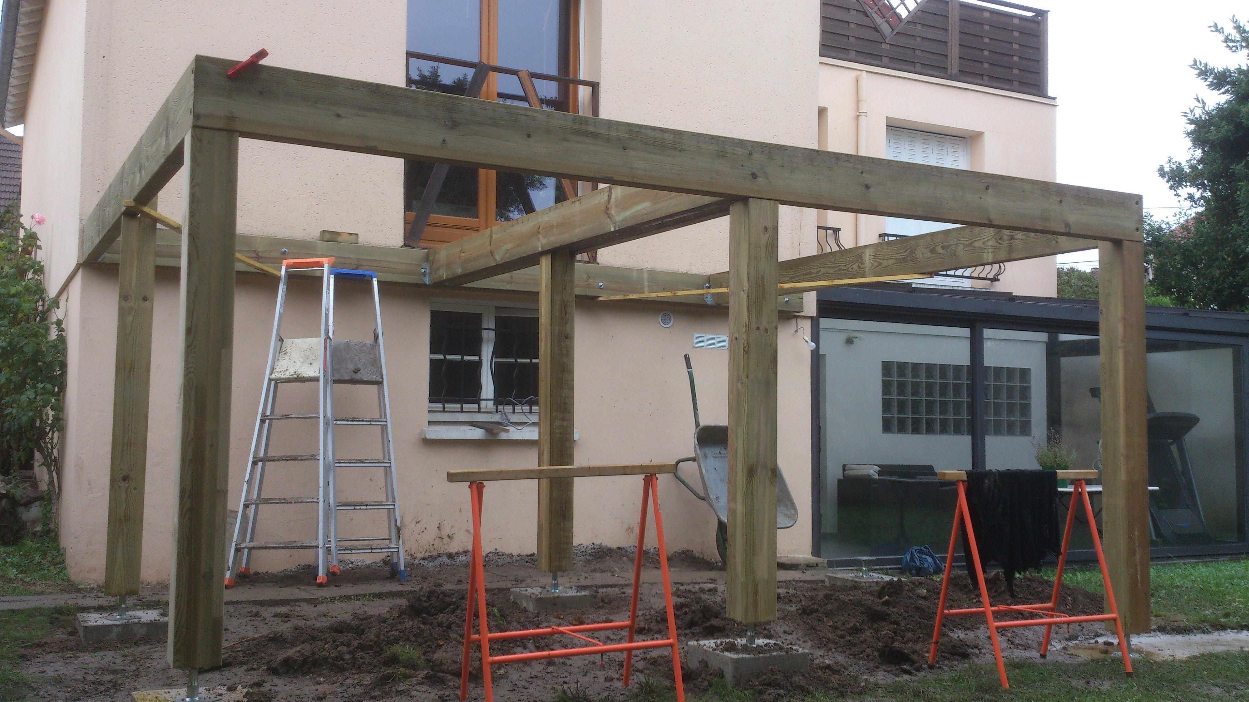 Terrasse bois eaubonne for Agrandissement maison 22