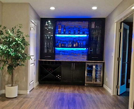 How to build a cool LED Wet Bar? | Renovations | Calgary | Tay-Ky ...