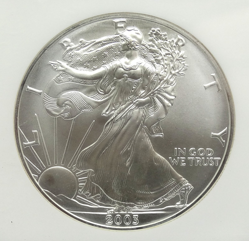 2003 American Eagle Silver Dollar Ngc Ms69 Apmetals