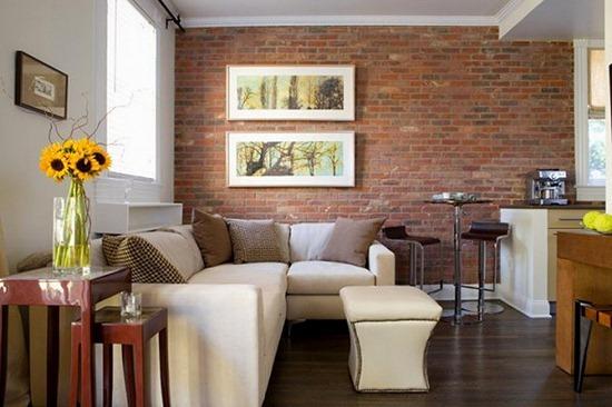 Кирпичная кладка в дизайне квартир