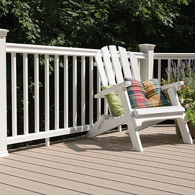 Barandillas de madera sintetica for Barandillas de madera para jardin