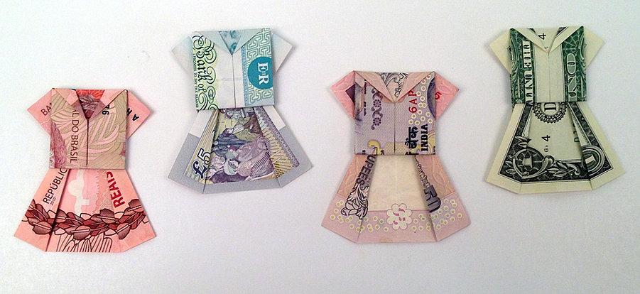 Dollar Bill Origami Shirt And Pants