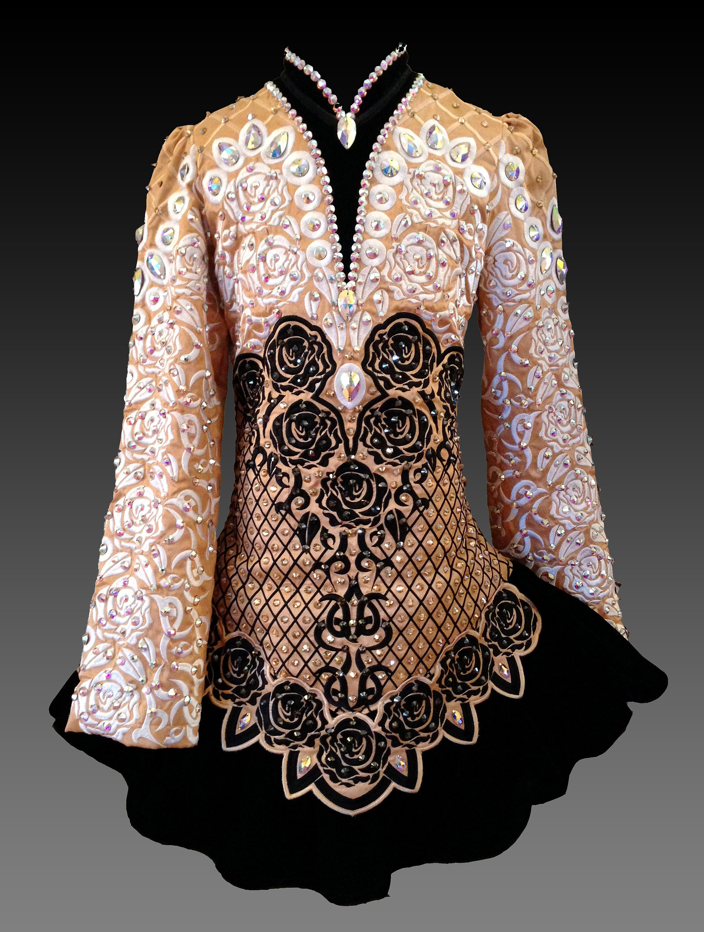 Kerry designs one of a kind irish dance dresses for Elevation dress designs