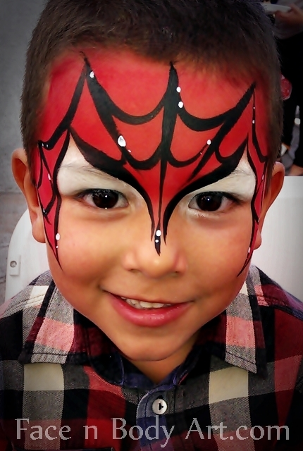 Easy Spiderman Face Painting Ideas