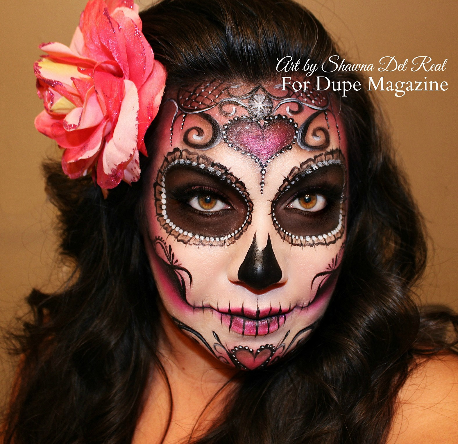 the gallery for gt day of the dead half makeup