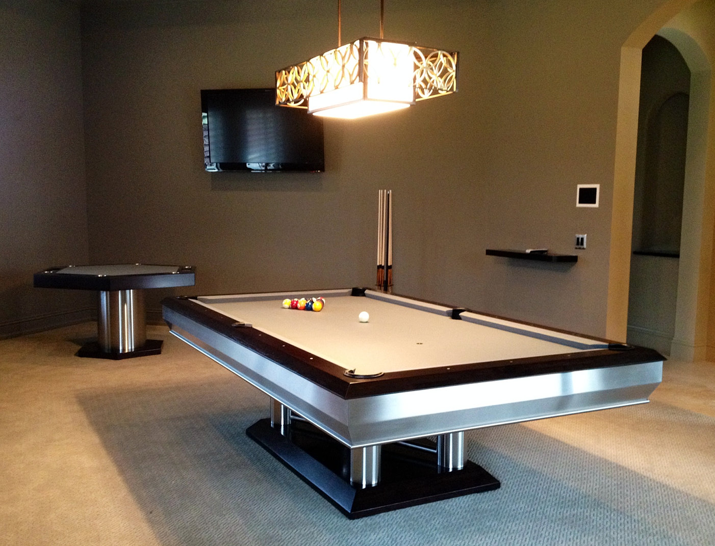 with hubble custom and tables sports gold from cloth bespoke omega pool table