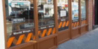 Fastfood shop window vinyls