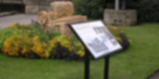 Interpritation panel in park