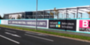 Buiness park hoarding advertising boards