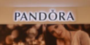 Pandora back lit acrylic lettering