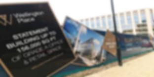 Wellington Place hoarding sign
