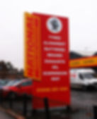 National Tyres Sign