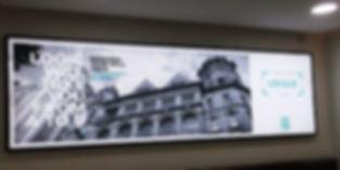 Banner flex backlit