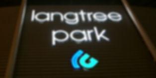 langtree park Stadium illuminated sign