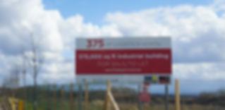 Advertising board on poles