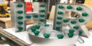HRC Signag with bulbs
