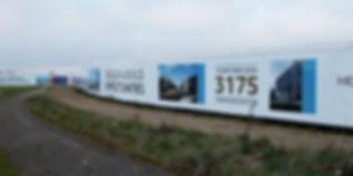Leeds printed hoarding advertising