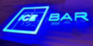 Night club bar sign Illuminated